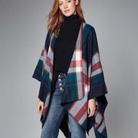 Womens Patterned Blanket Poncho | Womens New Arrivals | Abercrombie.com