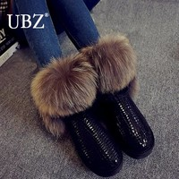 Fur Snow Boots 100% Genuine Leather