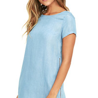 That's All Right Blue Chambray Shift Dress