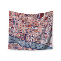 """Alison Coxon """"City Of London"""" Map Wall Tapestry"""