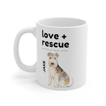 love + rescue Mug — Lakeland Terrier