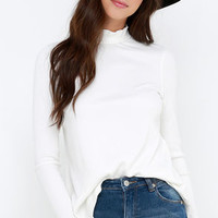 RVCA Common Law Ivory Long Sleeve Top