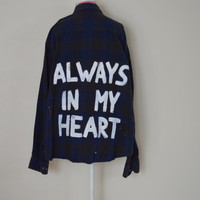 "Larry Stylinson ""Always In My Heart"" Vintage Flannel"