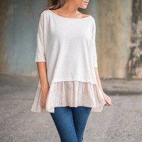 Girly World Top, Nude