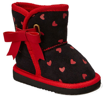 Kids Faux Fur Lined Bow Boots