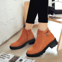 Hot Deal On Sale Winter Dr. Martens Decoration With Heel Plus Size Boots [6366200900]