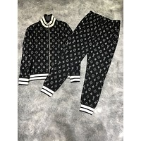 Hot33 2020 new color matching letter printing sports suit two-piece