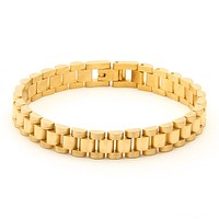The 14K Gold 10mm Rolex Watch Link Stainless Steel Bracelet