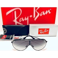 Ray-Ban Sunglasses RB3597 002/11 WINGS Pilot Black; Grey Gradient Dark Grey 33mm