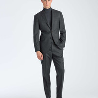 The Mayfair White Label Suit in Grey Flannel