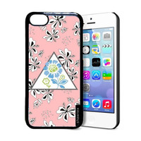 Shawnex Coral Flower Pattern iPhone 5C Case - Thin Shell Plastic Protective Case iPhone 5C Case