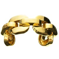 XL Square Chain Link Cuff - Wrist - Brass Collection