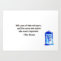 Doctor Who Print Art Print by Sydney's Doodles