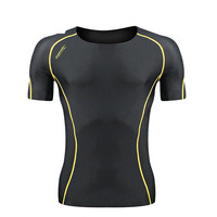 Men's Casual Outdoor Clothes Sunscreen Short Sleeve Sports Tights