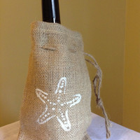 Star Fish Burlap Bag