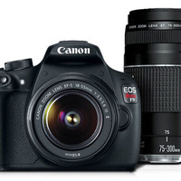 Canon EOS Rebel T5 EF-S 18-55 IS II Lens Kit with EF 75-300mm f/4-5.6 III | Canon Online Store