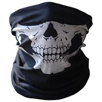 Face Mask   Bicycle Ski Skull Half Face Mask Ghost Scarf Multi Use Neck Warmer COD  2017,JULY,5