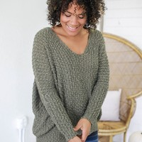 Hang With Me Sweater - Olive