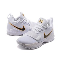 Nike Zoom PG 1 White Basketball Shoe