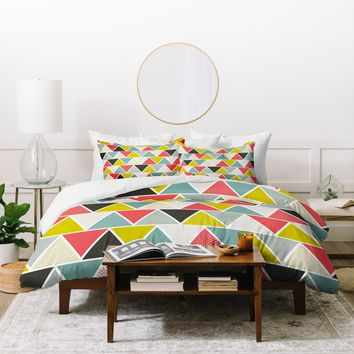 Heather Dutton Triangulum Duvet Cover