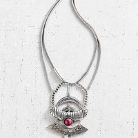 Liberty Layer Necklace- Silver One