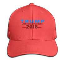 Cool 2016 Trump Make America Great Again Cotton Baseball Cap Peaked Hat Snapback For Unisex Red