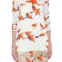 Akris Karminspint Print Cotton Voile Tunic Dress | Nordstrom