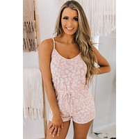 Surviving Summer Leopard Print Romper (Blush)
