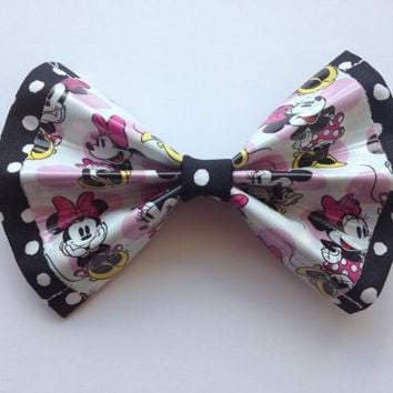 Disney Minnie Mouse Duct Tape and Fabric Hair Bow