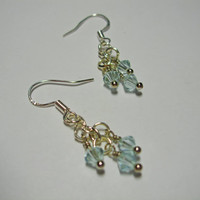 Simply Swarovski Earrings (ice blue)
