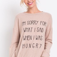 Hangry Sweater - Taupe