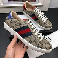 Gucci Men Fashion Boots fashionable Casual leather Breathable Sneakers Running Shoes-758