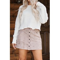 Stay A Little Longer Cropped Sweater (Cream)