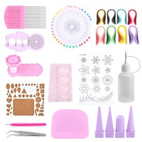 Quilling Paper Craft Rolling Kit Slotted Tools Strips Tweezer Pins Slotted Tools set
