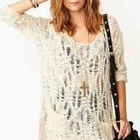 O-neck Crochet Long Sleeve Dress