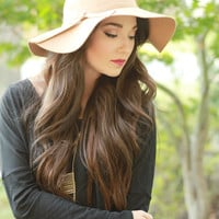 Camel Wool Floppy Hat