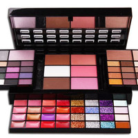 Professional Makeup Face Pressed Powder Eye Shadow 72 Color Concealing Contouring Palette Foundation Base Womens Gift