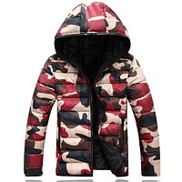 Men's clothing winter jacket with hoodies outwear Warm Coat Male Solid winter coat  Men casual Warm Down Jacket