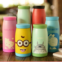 9 Style 250ml 350ml 500ML Stainless Steel Thermos Mug Garrafa Termica Belly Cup Termos Vacuum Flasks Cup for Office Water Bottle
