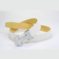 Perfect HERMES Woman Fashion Smooth Buckle Belt Leather Belt mieniwe?