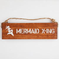 Mermaid Crossing Sign Natural One Size For Women 25291842301