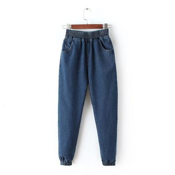 Winter Rinsed Denim Pants Jeans [8173405639]