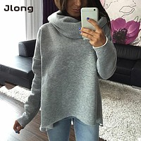 2017 Autumn Women Winter Scarf Collar Long Sleeve Sweater Fashion Casual Style Sweater Christmas clothes