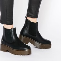 Blink Black Chunky Gum Sole Chelsea Boots