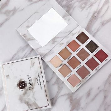 12 Colors Professional Glitter Eyeshadow Pallete Makeup Earth Matte Tints Marble Shades Eyes Make Up Palette Beauty Cosmetic