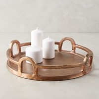 Copper-Handled Tray by Anthropologie in Copper Size: One Size Decor
