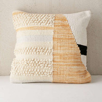 Colorblock Woven Loop Pillow | Urban Outfitters