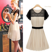 Chiffon summer lace dress