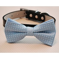 Blue Dog bow tie attached collar, Pet Wedding, Something blue, Wedding idea , Wedding dog collar