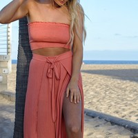 Peach Bellini Strapless Set